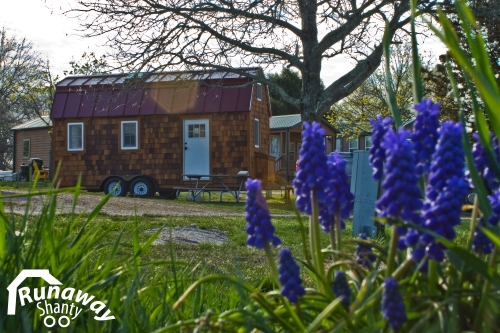 Our tiny house is weatherproof and visiting its first camping ground.