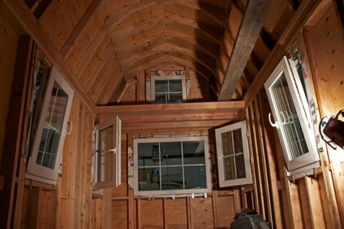 Our German triple-pane windows tilt and turn to the inside.