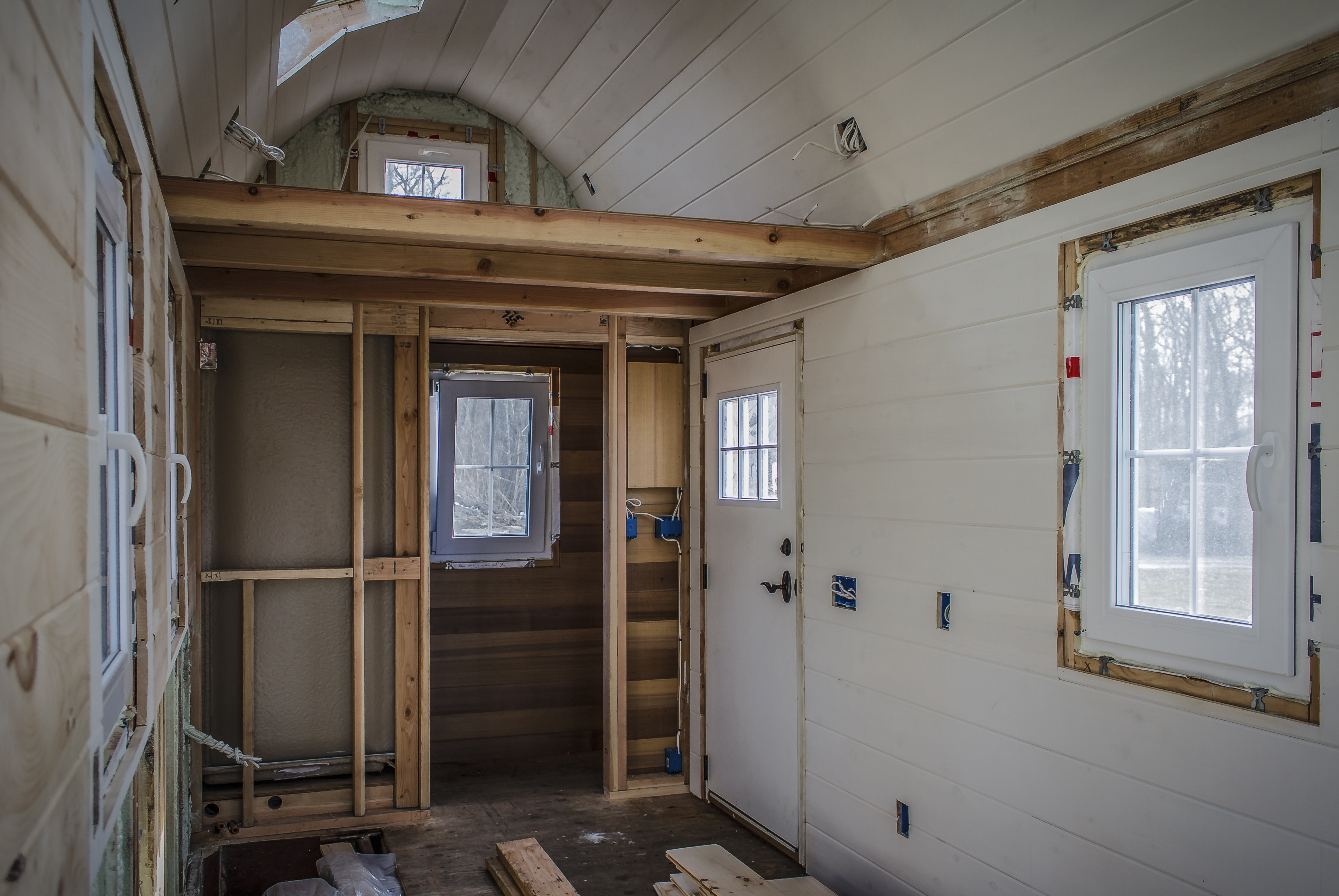 Interior Walls Our Tiny House Construction Since 2013